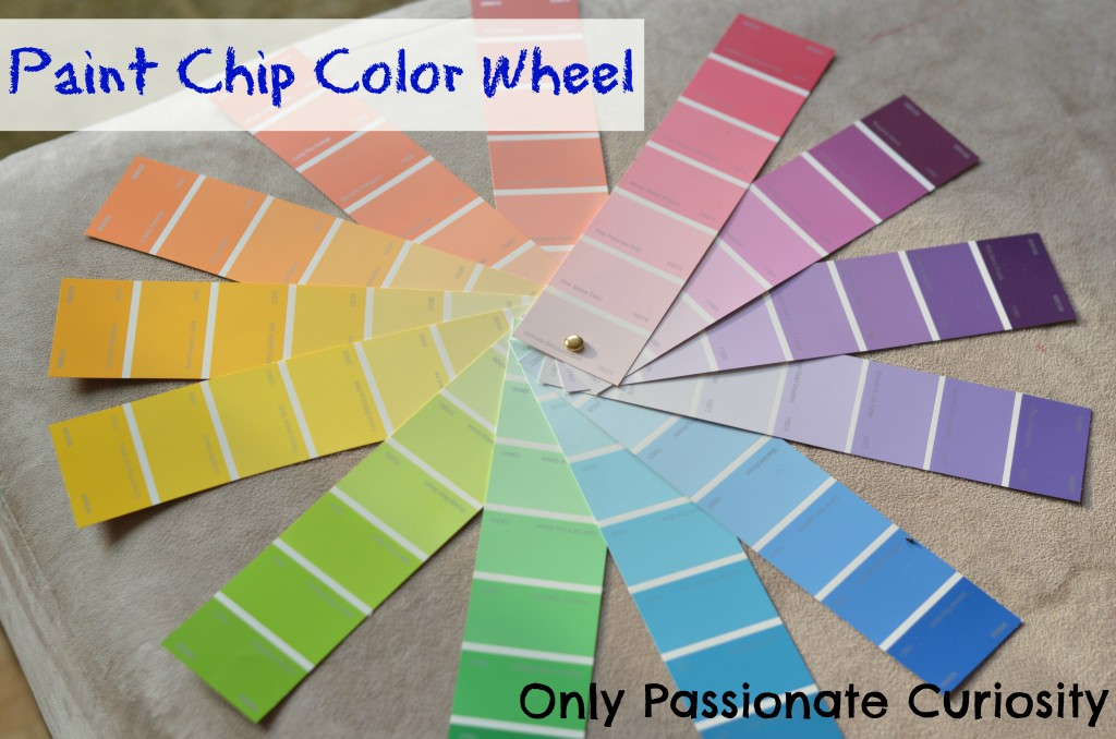Color Wheel made out of paint chips