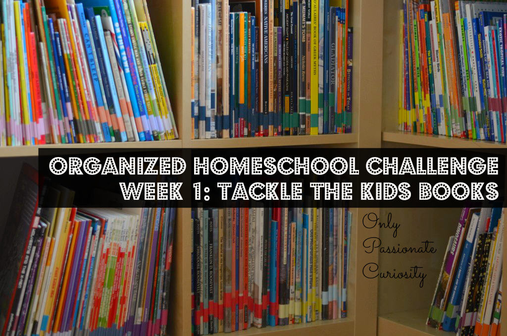 Organized Homeschool Challenge- Kids Books