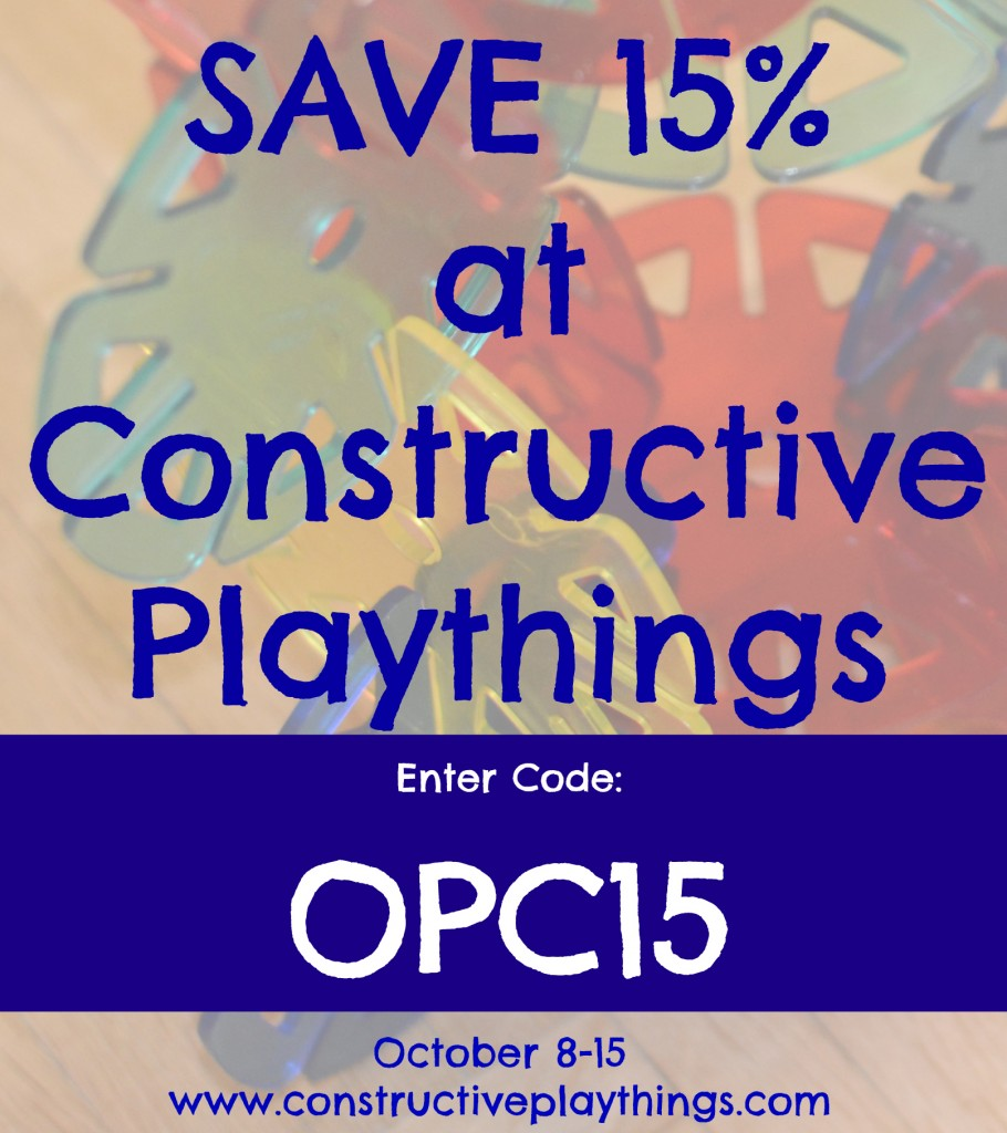 Save 15 percent at constructive playthings with code OPC15