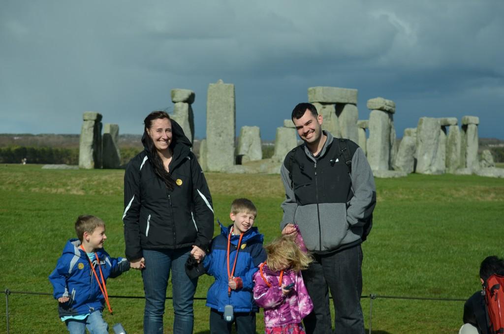 Family at Stonehenge