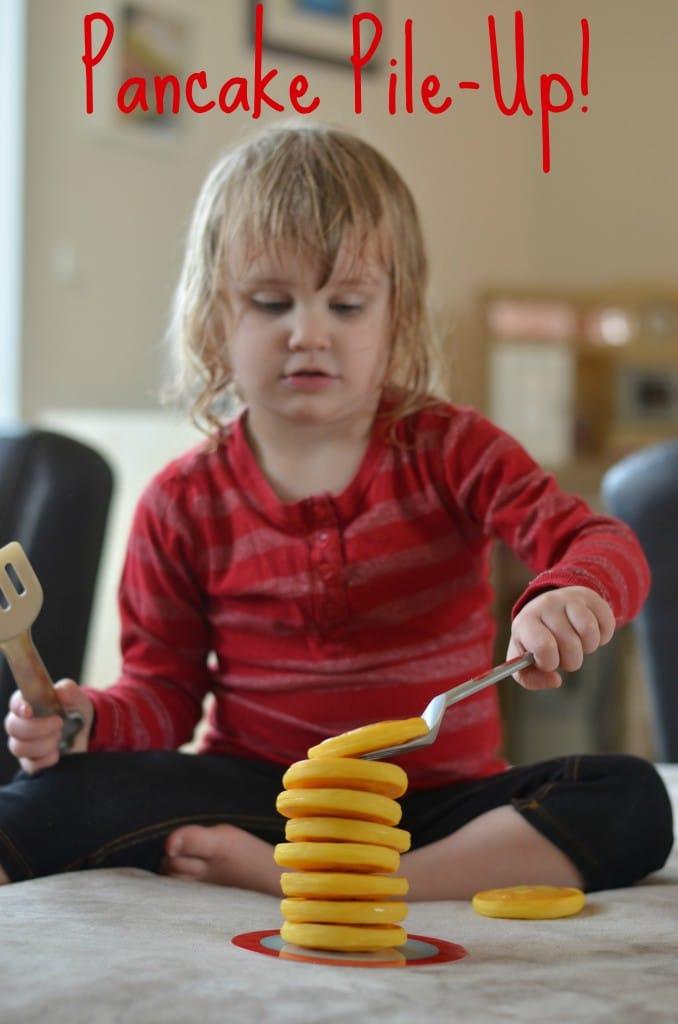 Pancake Pile Up Game- SO fun for toddlers