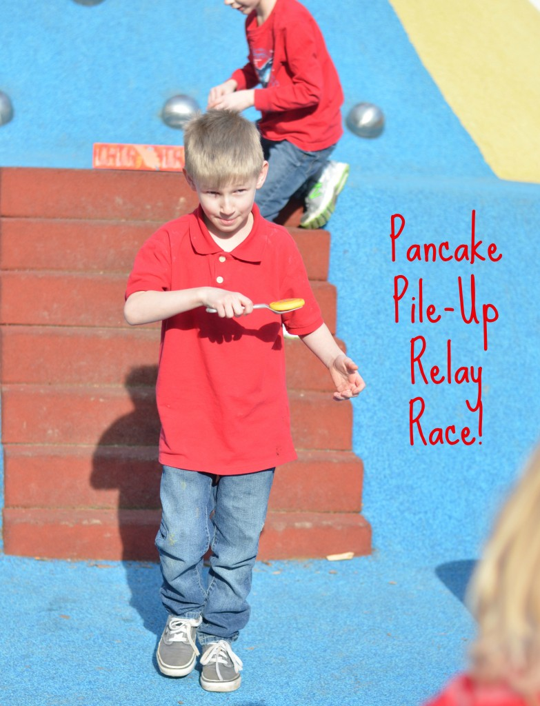 Relay Race- Stack the Pancakes