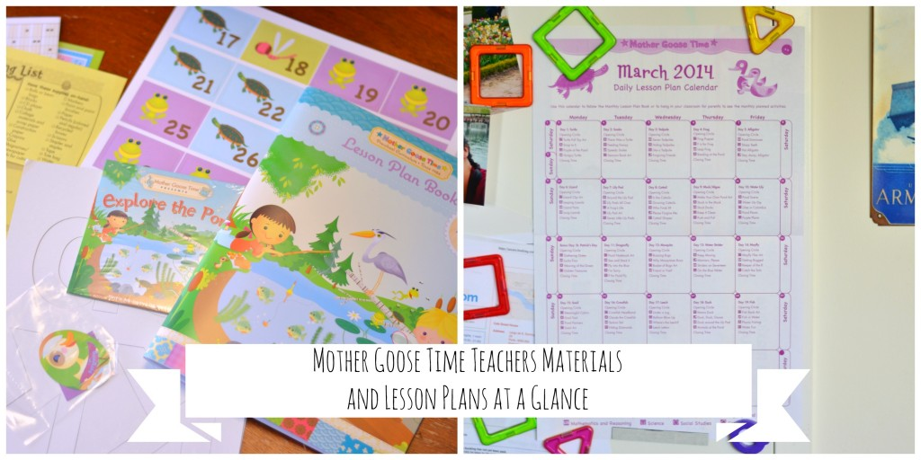 Teachers Materials from Mother Goose TIme