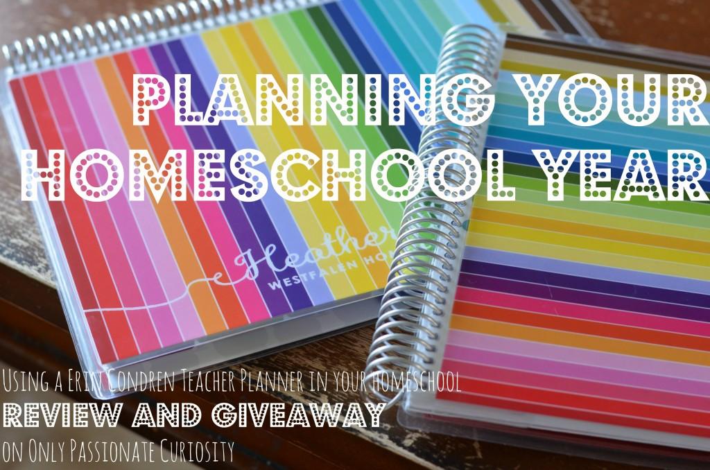 How I used an Erin Condren teacher planner in my homeschool
