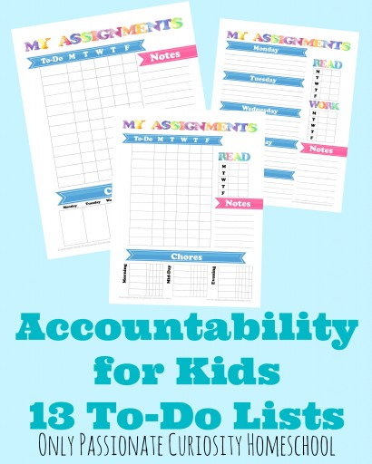 13 differerent forms- accountability for kids