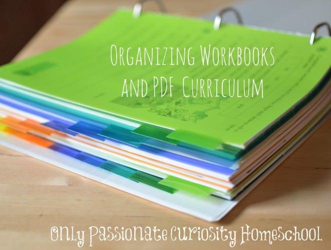 Organzing workbooks and curriculum