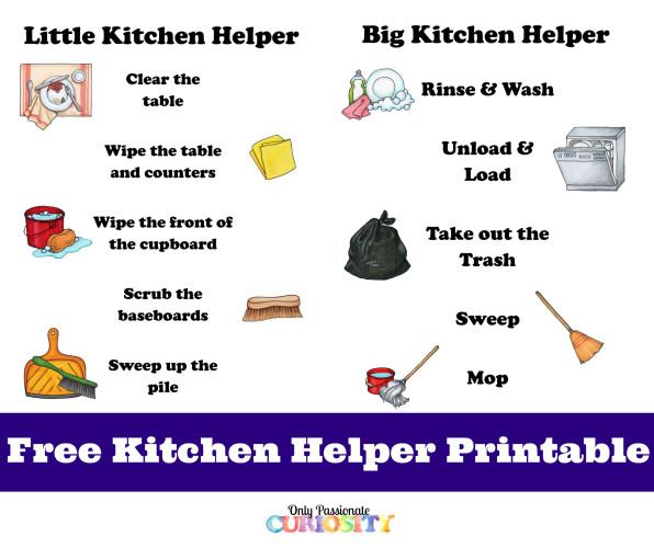 Kitchen Helper Printable
