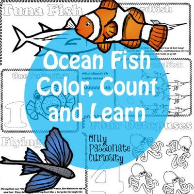 ocean fish printable cover