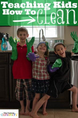 Teaching Kids How to Clean