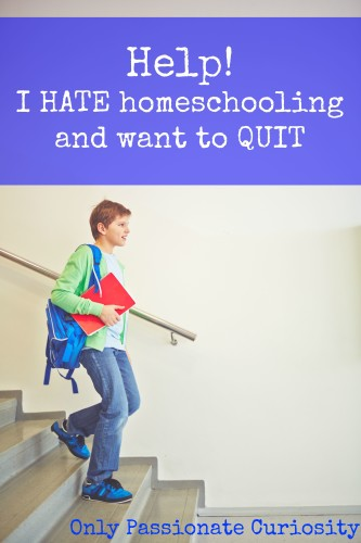 Help, I want to quit homeschooling
