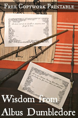 Free Dumbledore Copywork