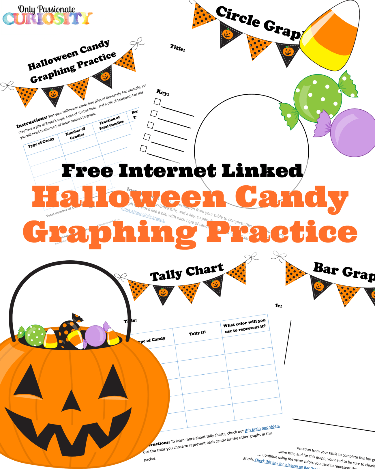 Halloween Candy Graphing Practice Free Printable Only Passionate Curiosity