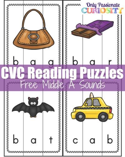 CVC Puzzles Letter A