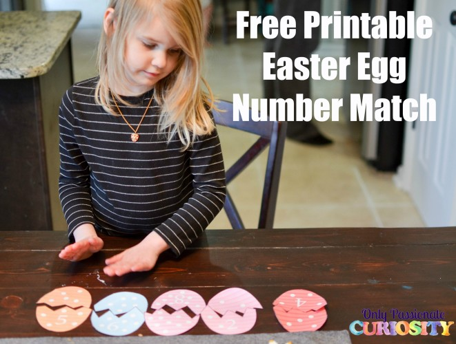 Easter Egg Number Match 1