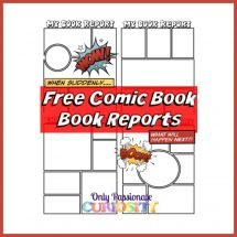 comic strip book report template