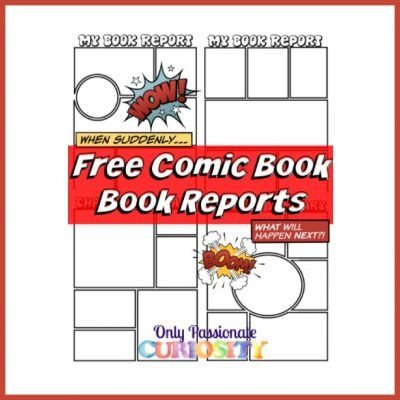 comic strip book report template