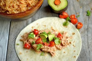 Slow Cooker Creamy Chipotle Chicken Tacos