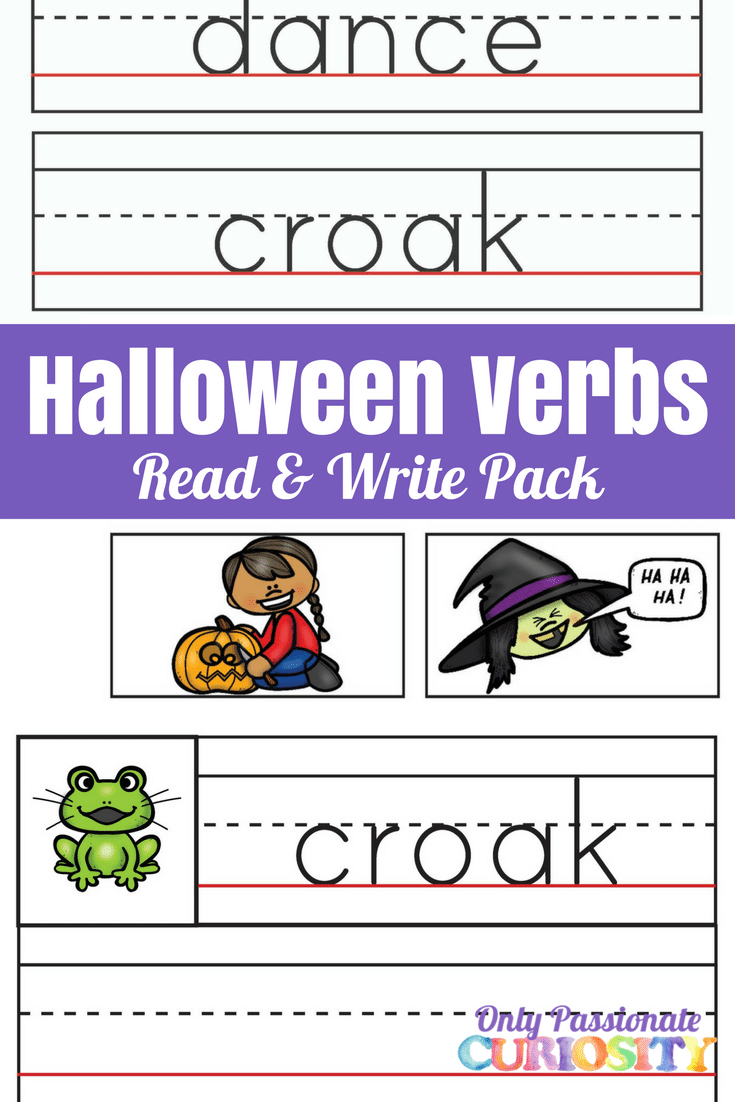 Halloween Verbs Read And Write Pack Only Passionate Curiosity