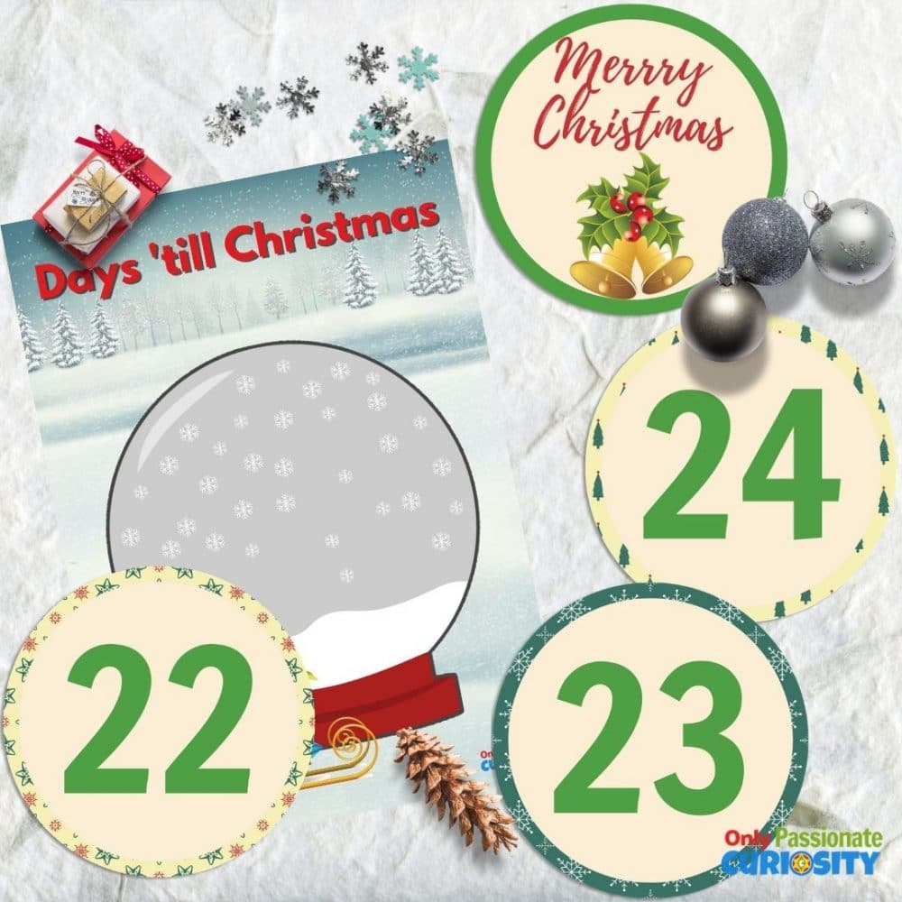 Christmas snow globe countdown