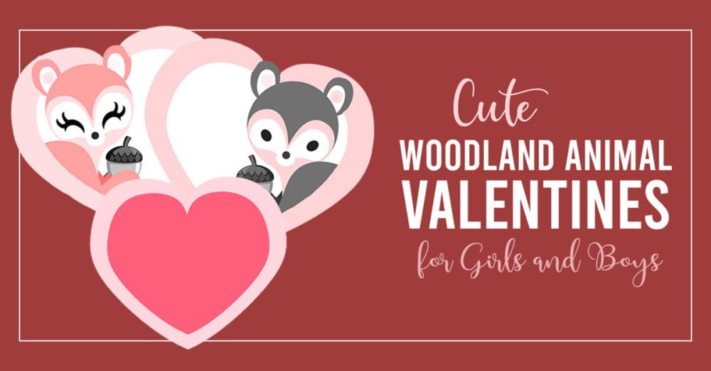 adorable 3D woodland animal valentines for boys and girls