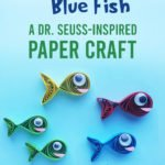 finished red fish blue fish craft