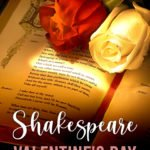 book by Shakespeare with roses on top