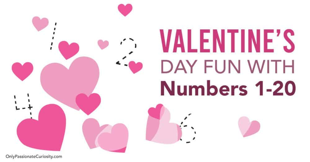 Valentine's Day practice for numbers 1-20