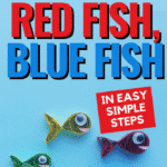 Looking for a fun way to celebrate Dr. Seuss Month? How about reading One Fish Two Fish Red Fish Blue Fish and making this super cute paper craft to go along with it?! It's easier to make than you would think, and it's a great fine motor and instruction-following activity for children. So read, create, and have fun with your children! #DrSeuss #Crafts #Fish