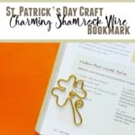 shamrock bookmark on a book