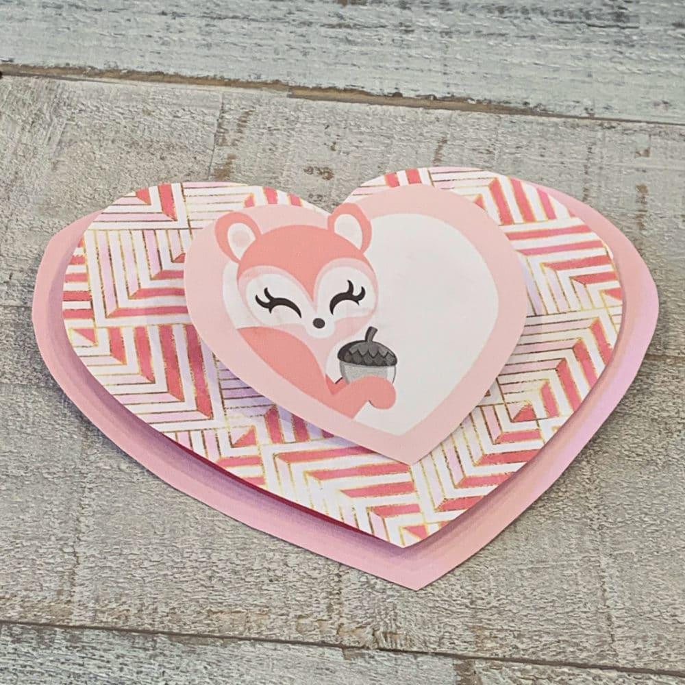 3D Woodland Animal Valentine