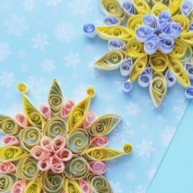 quilled snowflakes