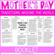 image of Mothers Day traditions printable