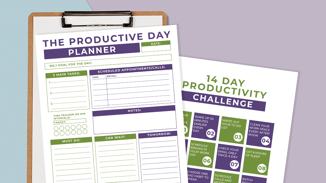 image of Productive Day and Productivity Challenge Pages