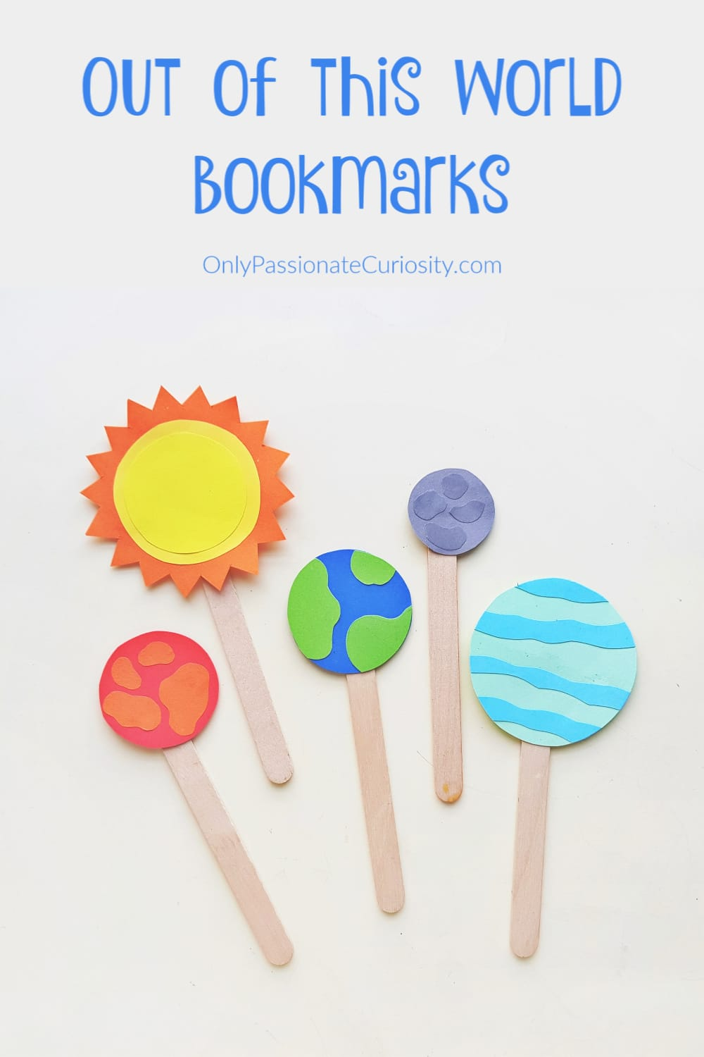 sun and planets bookmarks
