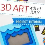 This is a fun craft project to do with your older children or teens for Independence Day! Make it just for fun or as part of a study of this holiday.