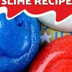 This easy red, white and blue slime is fun to make AND play with! Use our recipe to create this patriotic-themed slime with your kids this 4th of July!