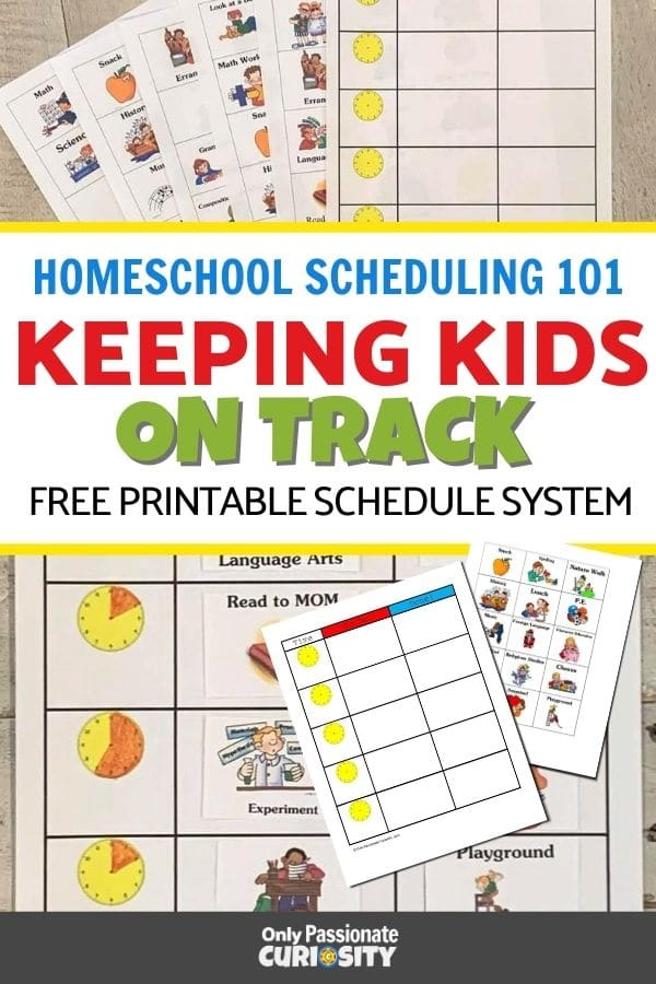 This printable schedule system will help your children learn time management skills and help ensure more productive school days! And it's fun to use!