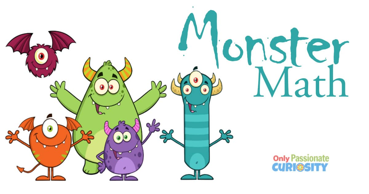 FREE Monster Addition Download. #freehomeschooldeals #fhdhomeschoolers #monsteraddition #singledigitaddition #additionpractice