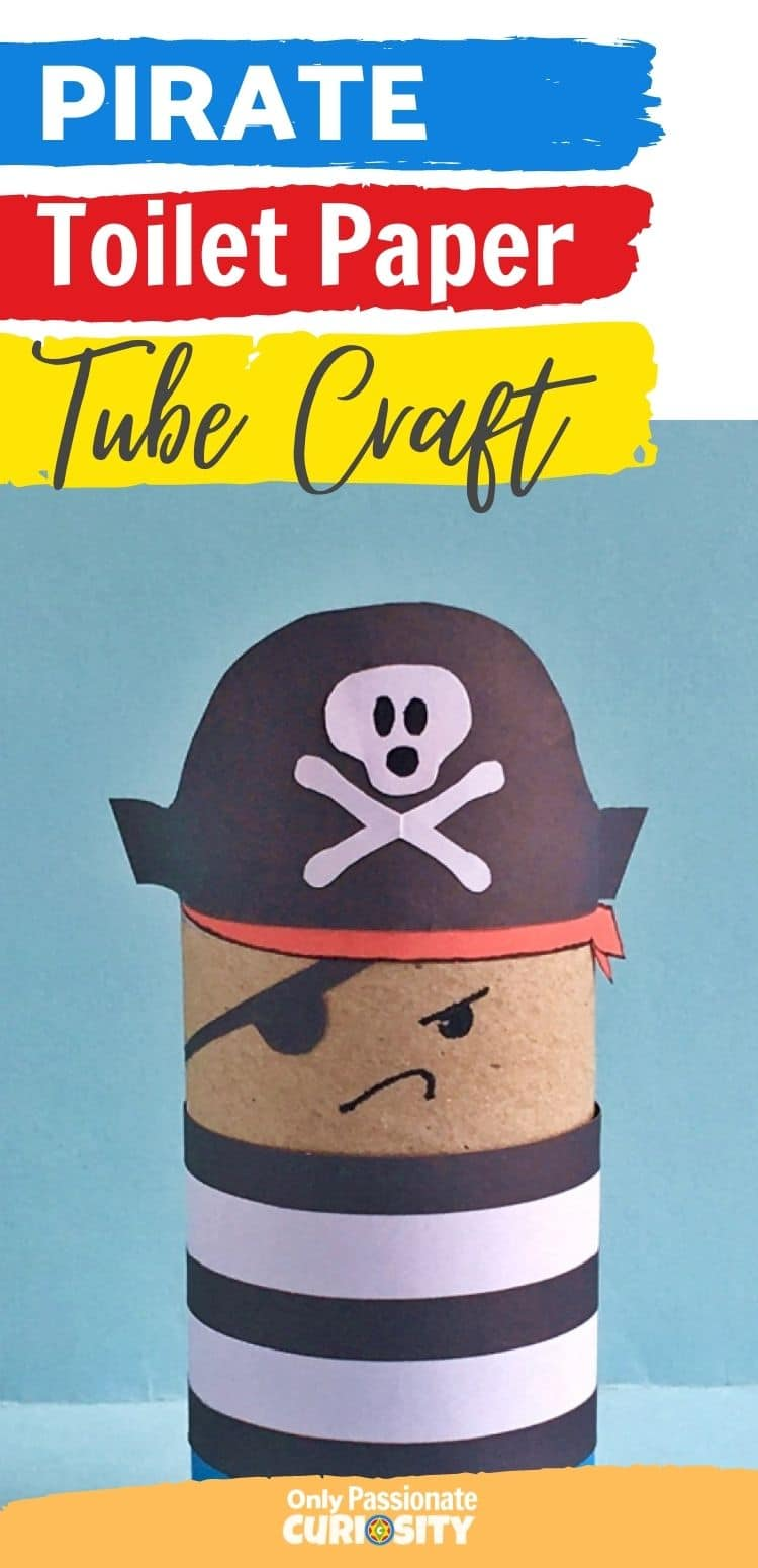 This cute pirate toilet paper tube craft is easy to make with your children using our simple tutorial and these printable templates.