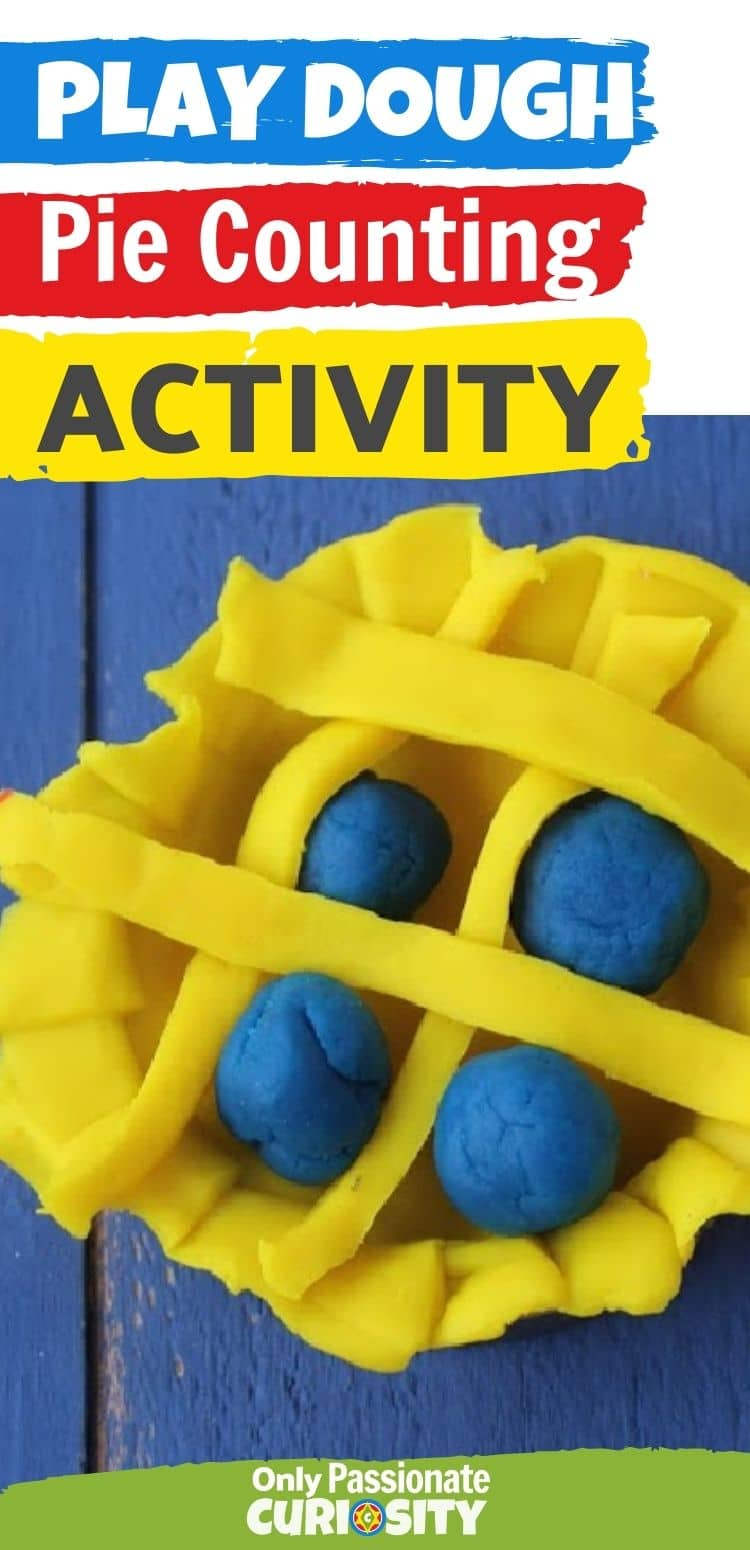 This play dough pie counting activity is a great way to do some math practice and have fun at the same time! Additional educational ideas are suggested too!
