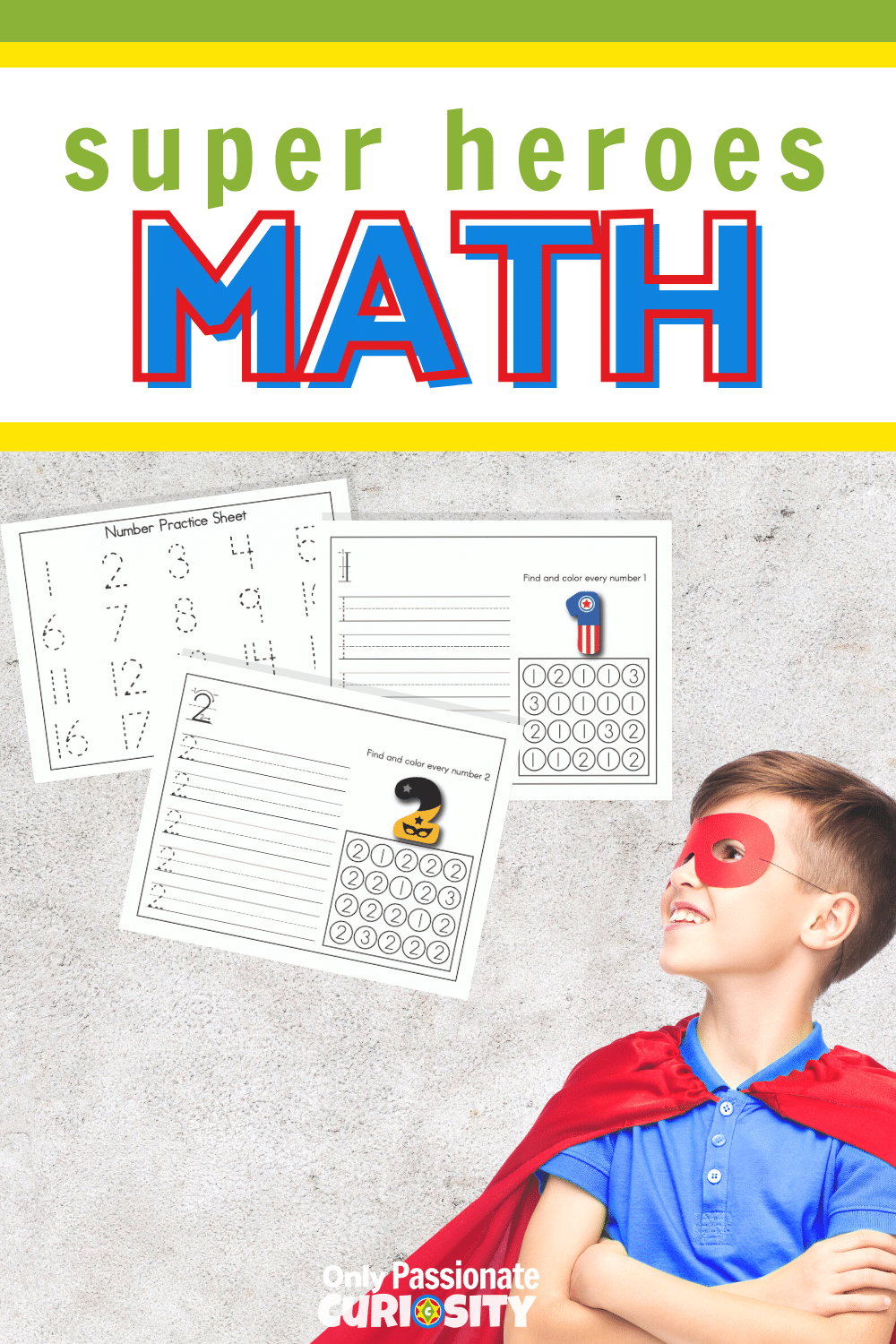 Use these 21 printable pages to help your little super heroes learn to identify and write the numbers 1-20! Laminate the pages to use them over and over. You'll also find additional ways to use these pages and to extend your number practice in fun ways.