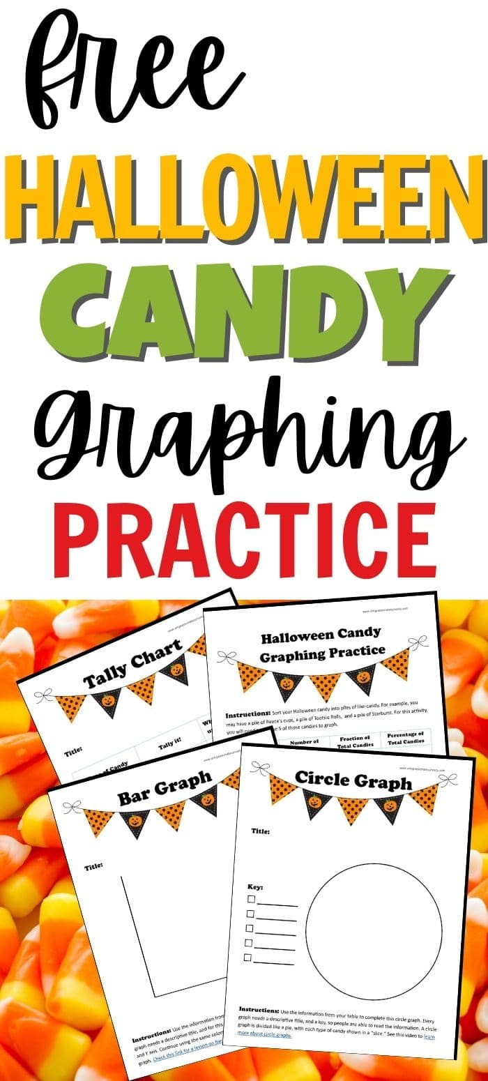 Put all that leftover Halloween candy to work! Use this fun Halloween Candy Graphing Practice packet with a variety of ages to teach children about tallying, tables, fractions, charts and more!
