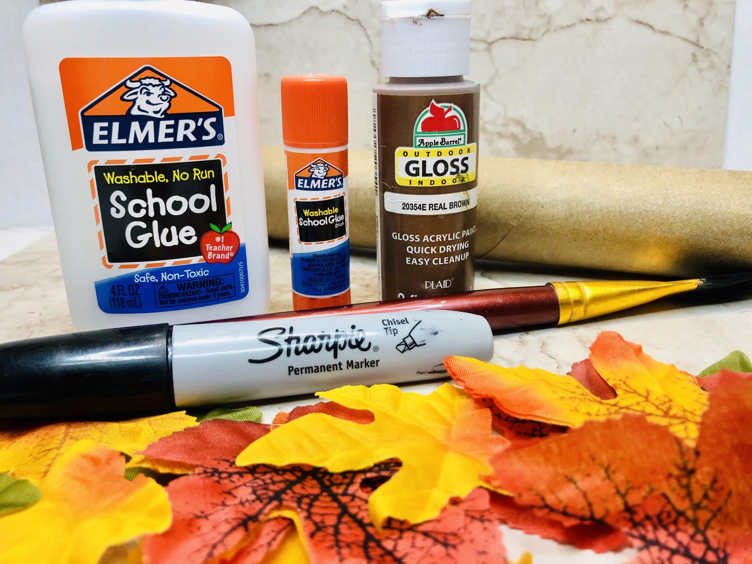 supplies for making a thankful tree
