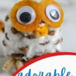 These adorable pinecone owls are super easy to make with your children whether you have young children or older! They make great fall decorations!