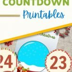 This free, printable Christmas Countdown will help you and your children get ready for Christmas! You will literally be counting down the days! There are several ways you can use this fun and pretty Christmas countdown in your home.
