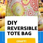 Make these DIY reversible tote bags to use for shopping trips, toting books, or even to gift to friends during the holidays!