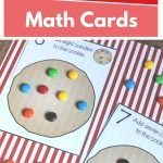 Use these Counting Candies on Cookies Math Cards to teach your little ones to count, practice addition and subtraction, sorting skills, and more!