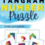 These printable tangram number puzzles make a great critical thinking activity to use for math with all ages!
