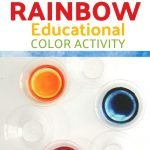 This colorful, educational activity is part art, part science, and 100% rainbow-inspired fun. All ages can enjoy this Walking Rainbow Educational Color Activity!