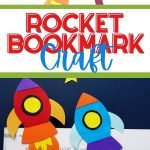 Make this fun and easy rocket bookmark with your little astronaut, then use it to read your favorite books about space together!
